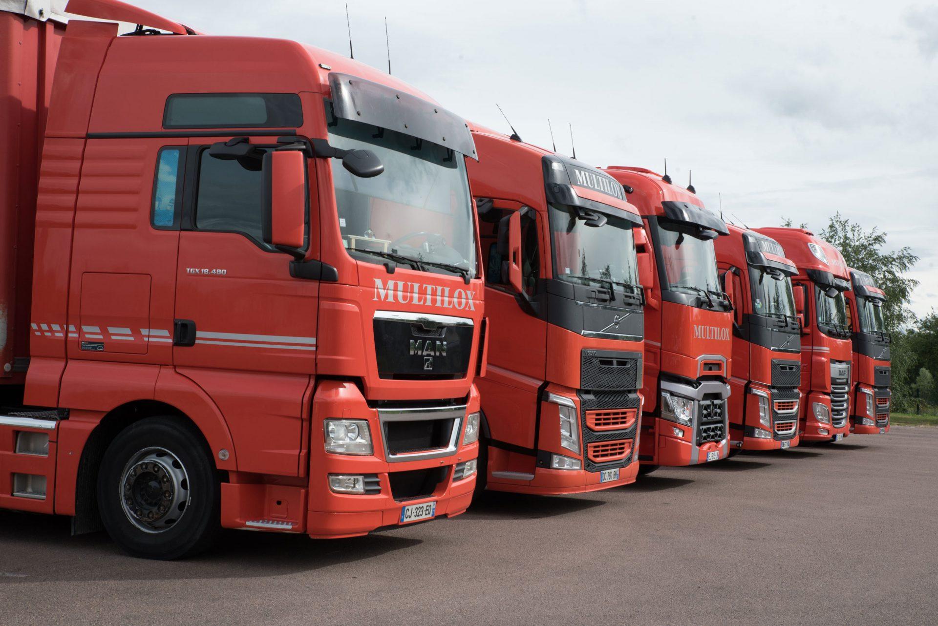 Camions oranges multilox
